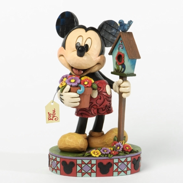 Mickey With Flowers and Birdhouse