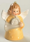1982 Angel With French Horn Bell Orn, Yellow