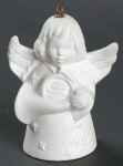1982 Angel With French Horn Bell Orn, White