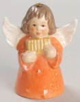 1983 Angel With Pipes Bell Orn, Orange