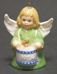 1984 Angel With Drum Bell Orn, Green