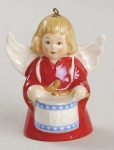 1984 Angel With Drum Bell Orn, Red