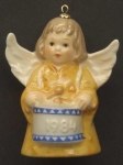 1984 Angel With Drum Bell Orn, Yellow