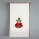 Frog on Ladybug Tea Towel