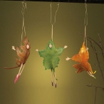 Falling Leaf Figures, Set of 3