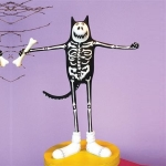Boney Cat Skeleton Figure