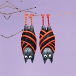 Bart & Beatrice Bat Ornament, Set of 2