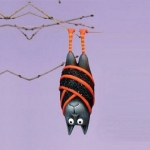 Bart Bat Ornament, Yellow Striped
