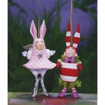 Pandora & Benjamin Bunny Orn., Set of 2