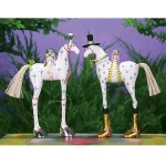Anabelle & Arthur Horse Orn., Set of 2