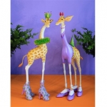 George & Janet Giraffe Figure, Set of 2