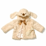 Auggie Doggie Coat Chocolate Ribbon 6""