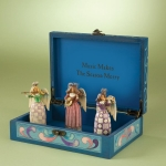 Angels with Box Orn., Set of 3