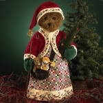 "18"" Santa Bear with Tree"