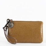 Lena Leather Wristlet