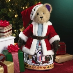 Santa Bear with Stand