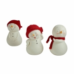 Snowman Figure Small, Set of 3