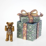 Bear in Wrapped Gift Box, Set of 2