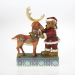 Santa Bear with Reindeer