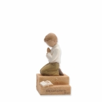 Boy Child Praying Figurine