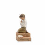 Ethnic Boy Child Praying Figurine