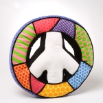 Britto Peace Sign Pillow