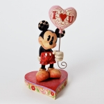 Mickey with Heart Balloons