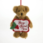 "5"" Nurse Holiday Bear Orn"