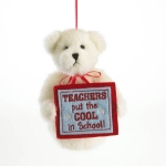 "5"" Teacher Holiday Bear Orn"