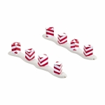 Peppermint Luminaries, Set of 2