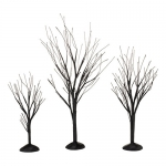 Black Bare Branch Trees, Set of 3