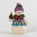 Pint Sized Snowman with Pinecone
