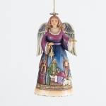 Angel with Nativity Skirt Orn