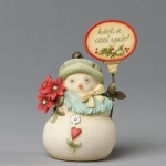 Mini Snowlady with Poinsettia