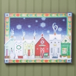 Winter Row House Wall Canvas