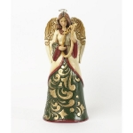 Green/ Ivory Angel with Harp