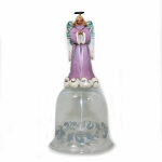 Angel Glass Bell Orn.