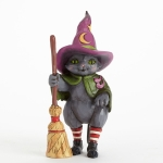 Witch Cat with Broom