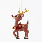 Rudolph with Gold Accents Orn