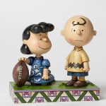 Football Lucy and Charlie Brown