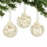 Angel Medallion Orn, Set of 3