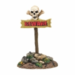 Beware The Boneyard Sign