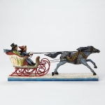 Victorian Couple in Sleigh