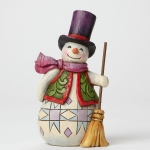 Pint Sized Snowman with Broom