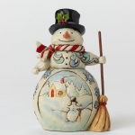 Mini Snowman with Winter Scene