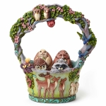 Woodland Basket with 5 Eggs