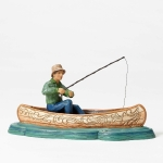 Fisherman in Canoe