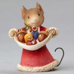 Mouse with Acorns Ornaments