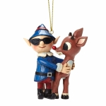 Rudolph with Elf in Sunglasses Orn