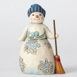 Wonderland Pint Snowman with Broom